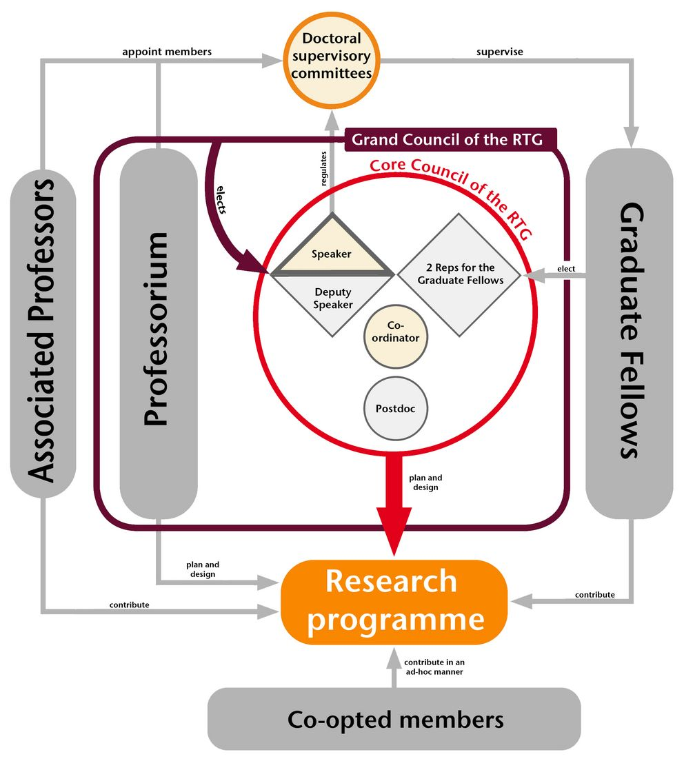 Organisational diagramme of the research training group